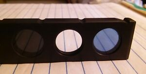 2 X Zeiss Microscope 452174 Filter Slider 18mm Dia With Blue And 3 Nd Axioplan