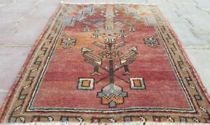 Beautiful Antique 1930 1939s Natural Dyes 1 8 2 4 Wool Pile Prayer Rug