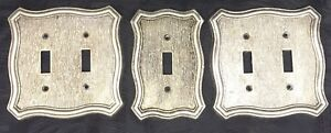 Vtg American Tack 1968 Lot Of Single And Double Metal Light Switch Plate Covers