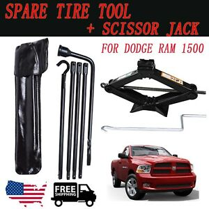 For Dodge Ram 1500 02 15 Spare Tire Lug Wrench Tool And Scissor Jack 2 Tonne New
