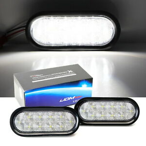 White Led Surface Mount Oval Shape Backup Reverse Driving Fog Lights For Truck