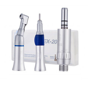 Dental Low Speed Handpiece Kit 2 Hole 2h Air Motor Straight Contra Angle Ex 203c