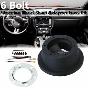 6 Bolt Steering Wheel Hub Quick Release Adapter Boss Kit For Ford Mustang Focus