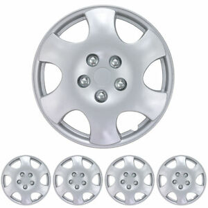 15 Inch Hubcaps 4 Pc Set Snap On Abs Protection Car Hub Cap Wheel Rim Covers
