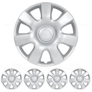 Hubcaps 15 Inch 4 Pieces Set Wheel Covers Hub Cap Silver Abs Protection