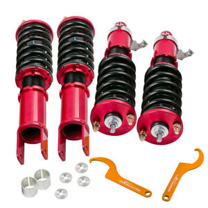Coilovers For Honda Civic 92 95 94 01 Integra Dc Db Adj Height Coil Spring Red