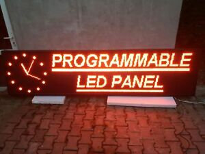 Outdoor Programmable 116 x28 P10 Led Red Display Panel Scrolling Text Sign