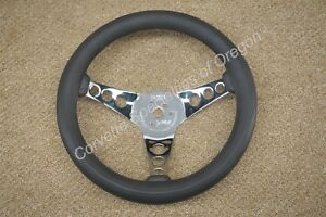 Vintage 60 s 70 s Chrome 12 5 Foam Padded Steering Wheel Superior 500 Style