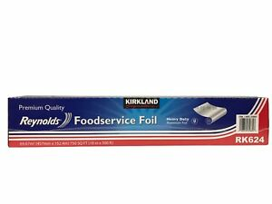 Kirkland Premium Reynolds Foodservice Aluminum Foil Heavy Duty 18in X 500ft