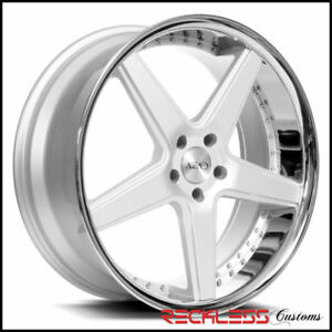 20 Azad Az008 Silver Concave Staggered Wheels Rims Fits F01 Bmw 750 760