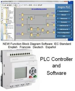 Plc Programmable Logic Controller With Programming Simulation Software 12v 24v