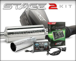 Edge 19125 Stage 2 Performance Cts2 Tuner Exhaust Intake Kit For Ford 6 0l Sd