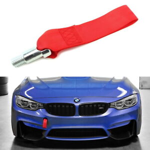 1 Red High Strength Racing Tow Hook Strap Set For New Bmw Fxx 1 2 3 4 5 Series