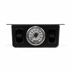 Air Lift 26229 Dual Needle Air Pressure Analog Gauge Two Paddle Switch 200psi