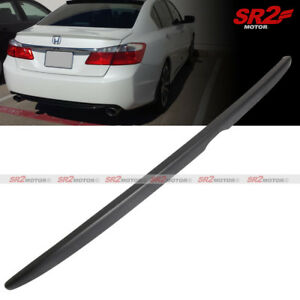 Oe Style Rear Trunk Lip Spoiler Wing Abs Black Fits For 13 17 Accord Sedan 4dr