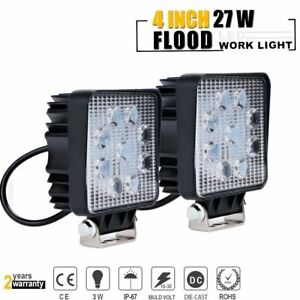 2x 27w Led Work Light Flood Truck Bar Camping 4x4 Lamp 12v Jeep Utv Atv Gmc