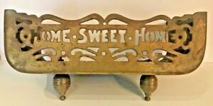 Antique Brass Home Sweet Home Fireplace Fender
