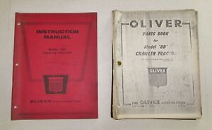 Oliver Bd Crawler Tractor Parts Instruction Manuals