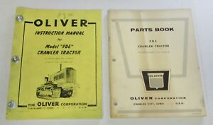 Oliver Fde Crawler Tractor Parts Instruction Manuals