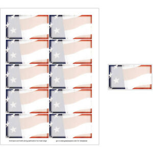 Old Glory American Flag Business Card Paper 50 Sheets yields 500 Cards