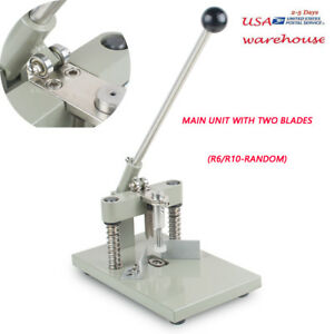 Manual Paper Corner Rounder Cutter Two Blades R6 r10 Craft Trimmer allen Wrench