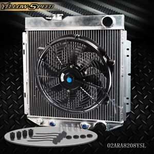 Aluminum Racing Radiator 14 Fan For 64 66 Ford Mustang Shelby V8 L6 Mt At