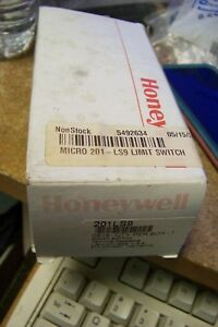 Honeywell 201ls9 Snap Action Limit Switch Rotary Lever Die Cast Zinc No nc 4