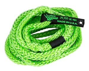Voodoo 1300008 Stress Reducing 20 Recovery Rope For Jeeps And 1 2 Ton Trucks