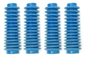 4 Pack New Aftermarket Shock Rough Boot Lifted 4x4 Orv Country Absorber Blue