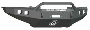 Road Armor 905r4b Front Black Pre Runner Guard Stealth Winch Bumper For Tacoma