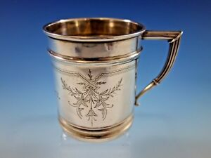 Whiting Sterling Silver Baby Child S Cup Mug Brite Cut 140e