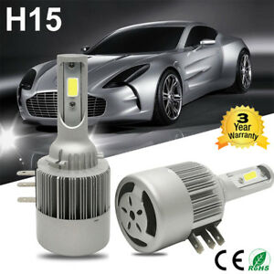 2x 110w 26000lm H15 Car Led Headlight Bulb Drl Lamp Kit Replacement Halogen