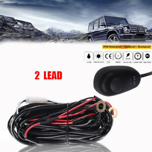 3 Lead Wiring Harness Kit W Remote Control Switch Relay For Led Work Light Bar