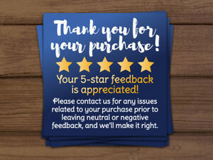 1000 Ebay Thank You For Your Purchase 5 Star Shipping Labels Stickers 2x2 Blue