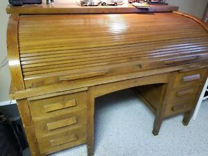 Antique Fielder Allen Roll Top Desk And Chair