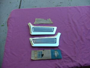 1967 Ford Galaxie Lower Front Fender Mouldings Lh And Rh Nos 500 Xl