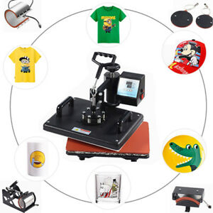 5in1 Magic Digital Heat Press Transfer Clamshell Hat Plate Sublimation Machine