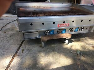 Vulcan 48 Natural Gas Heavy Duty 1 Griddle Flat Top Thermostatic Grill Used