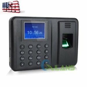 Fingerprint Recording Attendance Clock Time Machine 2 4 Tft Lcd Display