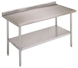 John Boos Ufblg6024 Work Table 60 60 w X 24 d Stainless Steel Top With 1 1 2