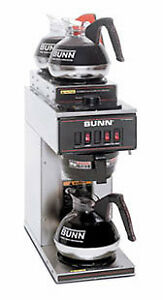 Bunn Pourover Coffee Brewer With 3 Warmers vp17 3 0004