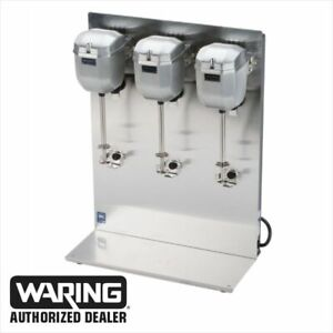 Waring Dmc201dca Heavy Duty Triple Spindle Drink Mixer 2 Speed 1 Yr Warranty