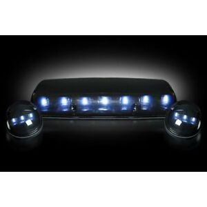 Recon 264155whbk Smoked Led Cab Roof Lights White For 02 07 Chevy