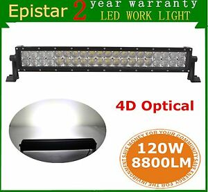 23 120w Curved Led Light Bar Spot Flood Off Road Suv Jeep Truck Ford 4d Lens