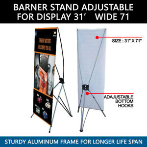 lot Of 5 Banner X Stand 31 X 71 Bag Trade Show Display Advertising