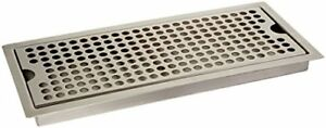 Kegco Sedp 220d Beer Drip Tray Stainless Steel Flush Mount Drip Tray W Drain