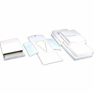 6 White Leather Necklace Jewelry Travel Folder Display Cases
