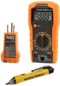 Electrical Test Kit Lcd Multimeter Voltage Receptacle Tester Dust And Amp