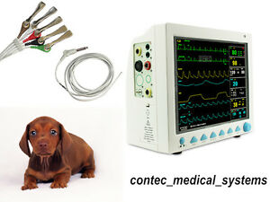 12 1 Inch Veterinary Icu Patient Monitor Vital Signs 6 Parameter Vet Machine usa
