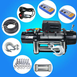 12500lbs 12v Electric Recovery Winch Truck Wireless Remote Control Towing Jeep